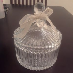 Ribbed Glass Container